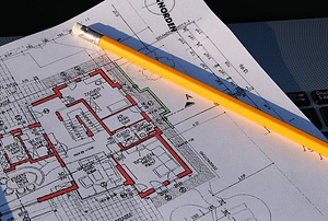 a professional building plan